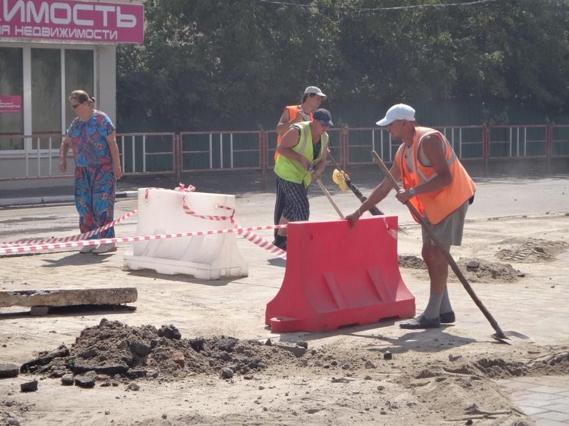 Из-за коммунальной аварии автомобилисты Тамбова терпят неудобства