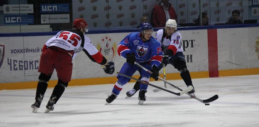 Тамбовские хоккеисты выиграли у хозяев на турнире в Чебоксарах