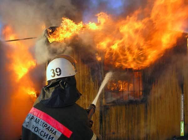 В Тамбове горел жилой дом