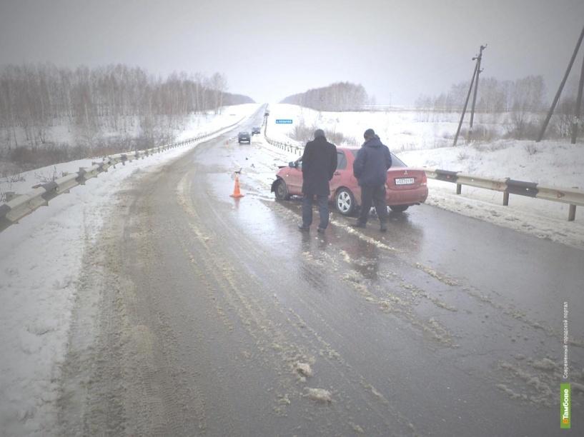 В Тамбовской области на трассе столкнулись две легковушки