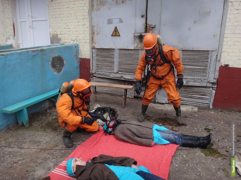 В Тамбове на заводе Пигмент прошли учения по ликвидации ЧС