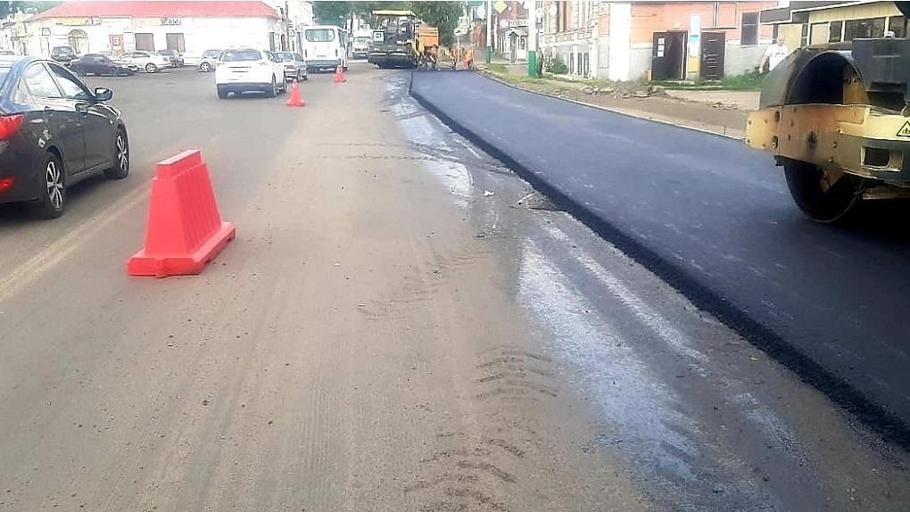 В Мичуринске активно ремонтируют городские дороги