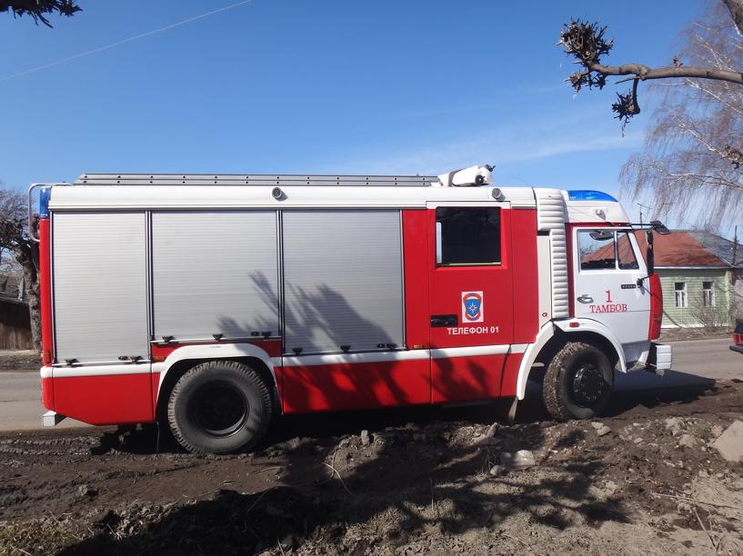 На трассе «Тамбов-Моршанск» сгорел автомобиль