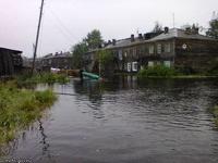Из-за наводнения в Карелии прорвало дамбу