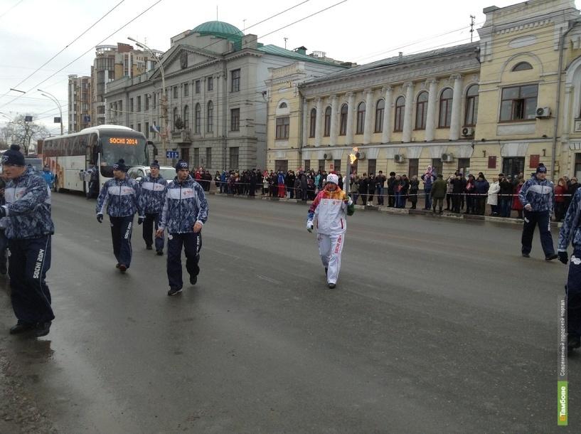 Олимпийский огонь сделал остановку в сквере Зои Космодемьянской