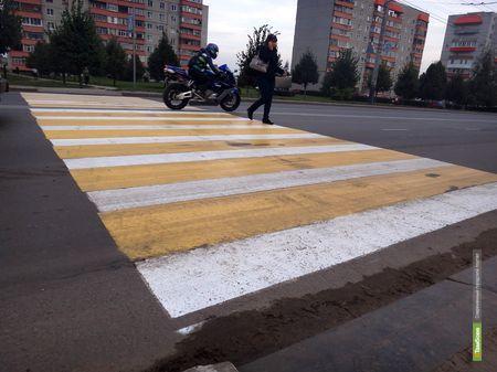 Автоинспекторы узнают, пришлась ли по нраву цветная «зебра» тамбовчанам