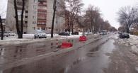 Даже зимой в Тамбове не прекращается ямочный ремонт