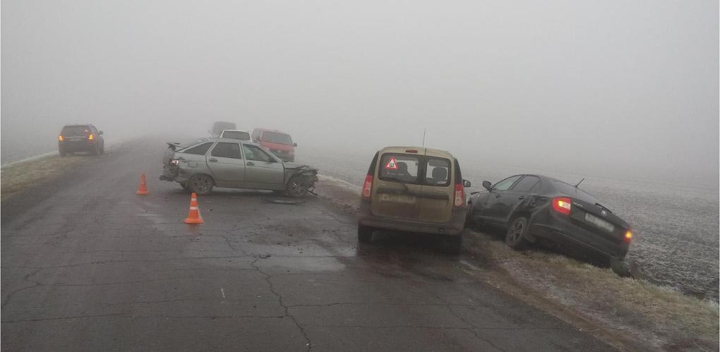 Массовое ДТП под Мичуринском: из-за тумана столкнулись семь автомобилей
