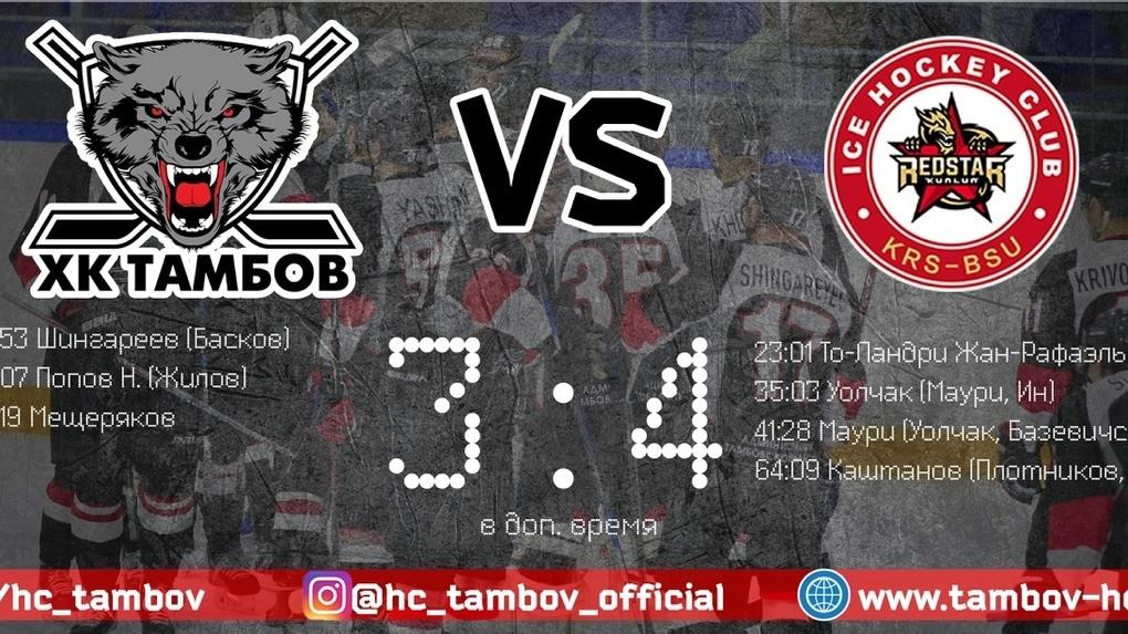 ХК «Тамбов» проиграл команде из Пекина
