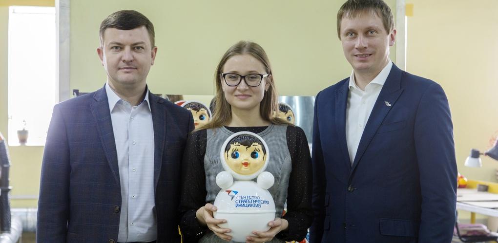 В Котовске для почётных гостей сделали фирменную неваляшку