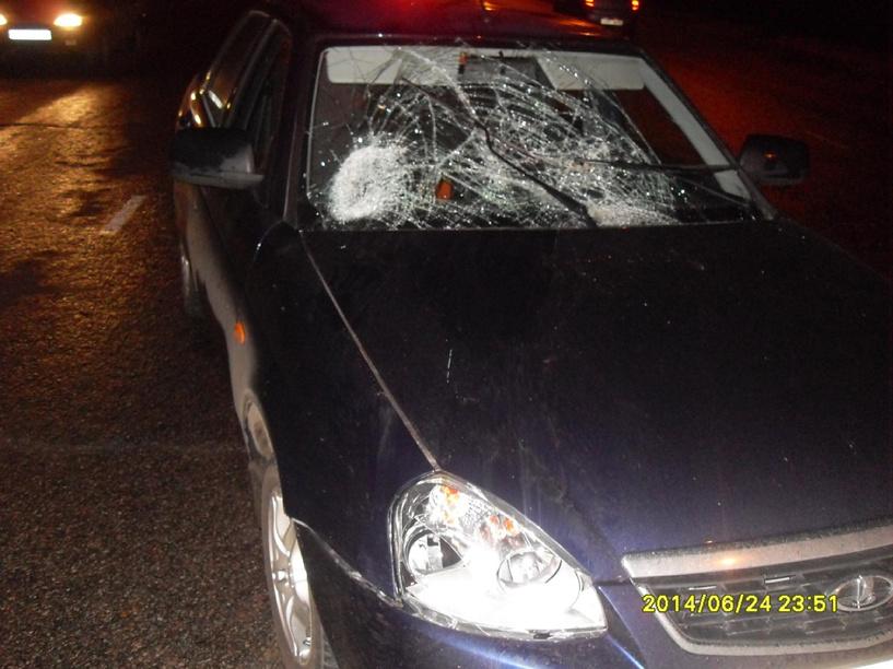 На выезде из Тамбова легковушка сбила пешехода
