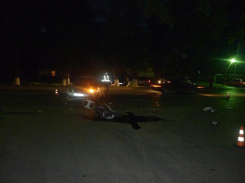 В Мичуринске легковушка сбила мотоциклиста