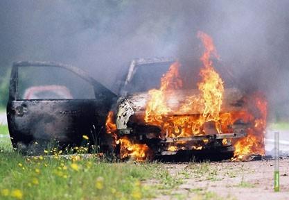 Пожарные Тамбовщины тушили автомобиль