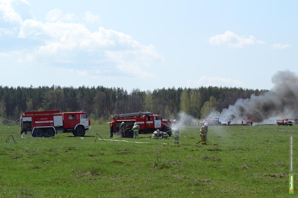 Мусорный полигон в Тамбове загорелся из-за матраса