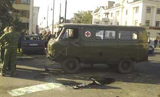 Военная «буханка» влетела в «Фольксваген»