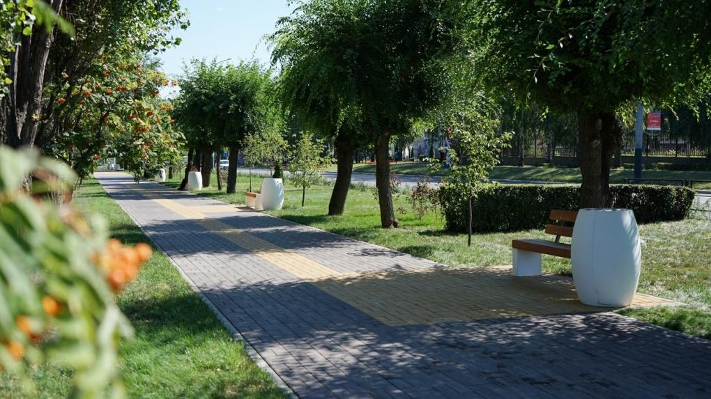 В Тамбове завершились работы по благоустройству сквера на бульваре Энтузиастов