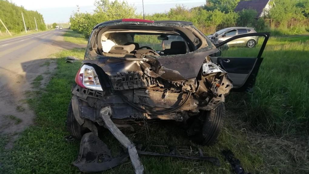 На выезде из Тамбове столкнулись два авто